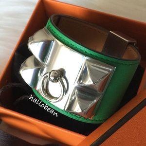 Hermes Accessories - Auth NIB Hermes Bambou Swift CDC bracelet Sz Small