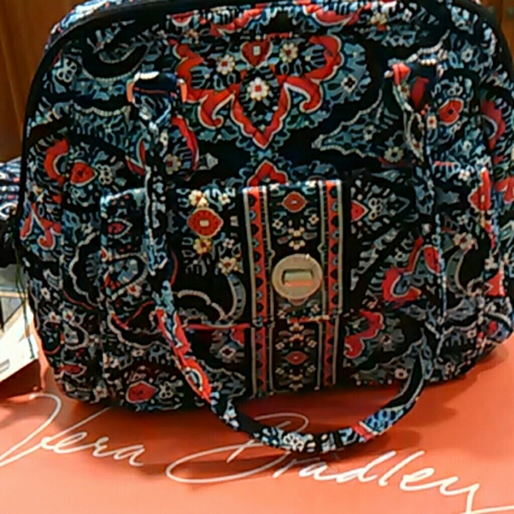 fa6ff2b889b4 Vera Bradley turnlock satchel NWT Marrakesh