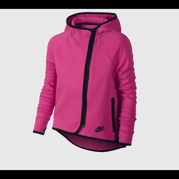 08058781ec Jackets   Blazers - Nike girls tech fleece cape hoodie pink Small S