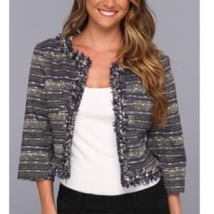 Lilly Pulitzer Hagan Jacket Navy Metallic Boucle