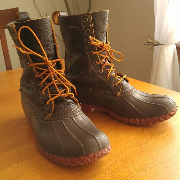 961a8e39ae4 L.L. Bean Duck Boots bison brick red mens 10.5