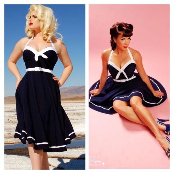 8049dc0126172 Pinup Couture Sailor Swing dress. M_57e4427fbcd4a711a8004b46