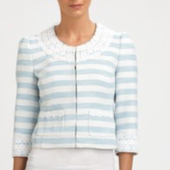 Lilly Pulitzer Jackets & Blazers - Lilly Pulitzer Nelle Jacket Flutter Blue Lurax