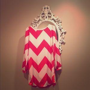 Gabriella Rocha Dresses & Skirts - ❤️ Beautiful chevron Valentine's Day dress tunic
