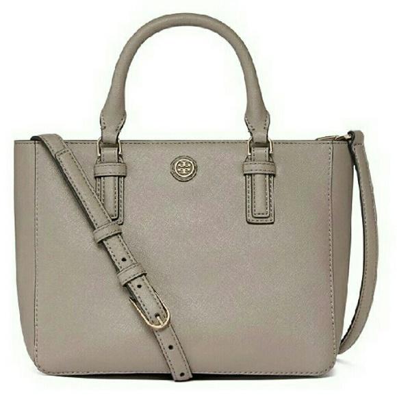 00923f201134 NEW Tory Burch Robinson Mini Square Tote Bag