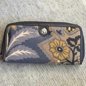 Spartina natural linen Wallet