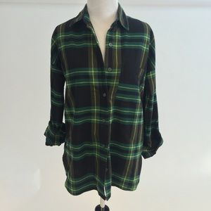 Black and Green Flannel