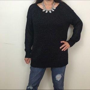 Jennifer Lopez Sweaters - Jennifer Lopez Open Back Black Sweater