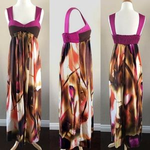 Black Halo Dresses & Skirts - Black Halo Printed Maxi Dress-S/M