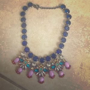 J Crew firework necklace crystal statement