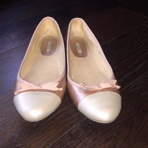 Cute used pink & cream Zara flats size 40