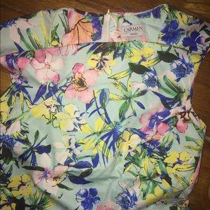 Carmen Marc Valvo Dresses & Skirts - Carmen Marc Valvo floral midi dress