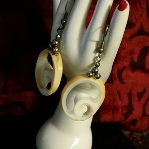 Vintage Handmade Shell Earrings