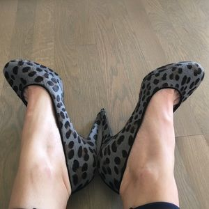 J. Crew Shoes - JCrew Grey Leopard Calfhair Heels