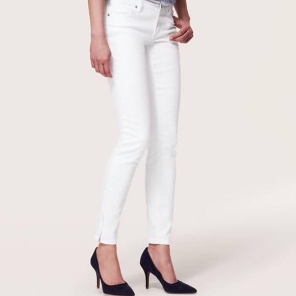 88% off LOFT Denim - Ann Taylor LOFT white jeans - modern skinny ...