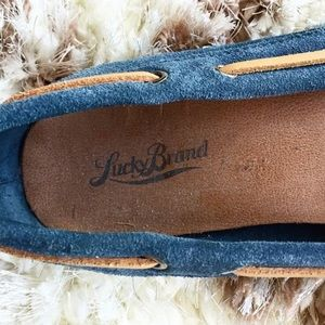 323d39327f9 Lucky Brand Shoes - Lucky Brand Blue Aligabe Flat Moccasins