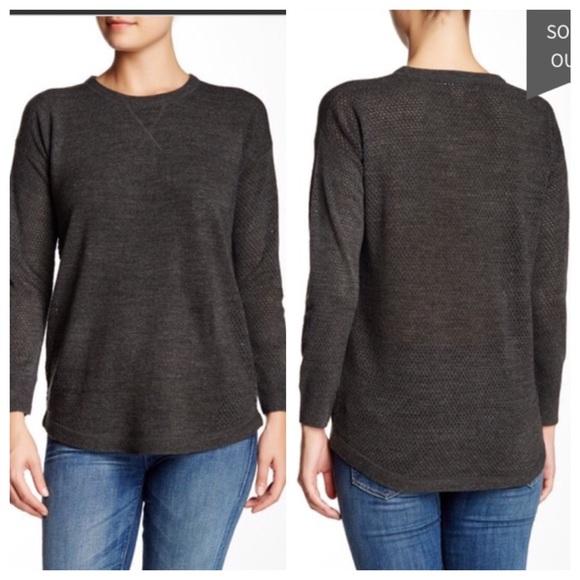 e95f59887bcc Sweet Romeo Open Stitch Sweater in Gray