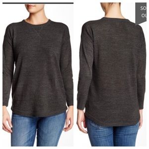 Sweet Romeo Sweaters - Sweet Romeo Open Stitch Sweater in Gray