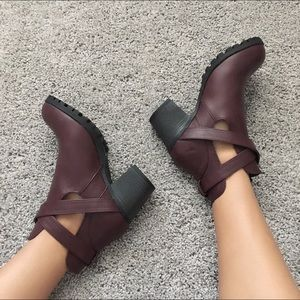 Bamboo Shoes - Dark blood booties