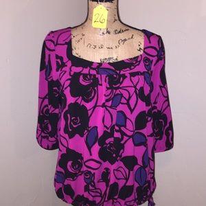 Pink/Black Blouse