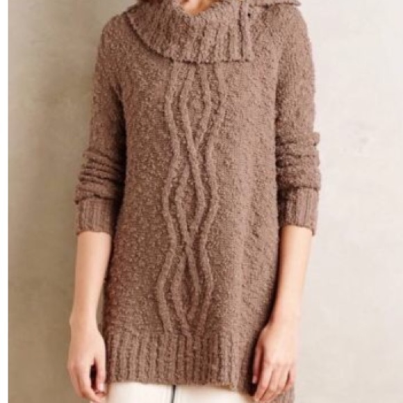 74% off Anthropologie Sweaters - Anthropologie Moth cowl neck ...