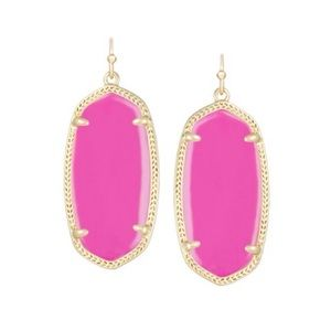 NEW Kendra Scott Elle Earrings in Magenta