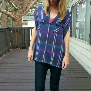 Rails Tops - Rails/Free People High Low Flannel