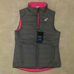 Asics Jackets & Blazers - NEW Asics Reversible Sleeveless Jacket/Vest