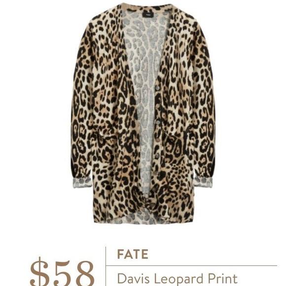 d01efc6a9920 fate Sweaters   Euc Stitch Fix Davis Leopard Print Cardigan   Poshmark