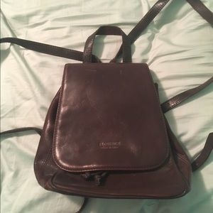 Florence Handbags - Florence leather backpack purse