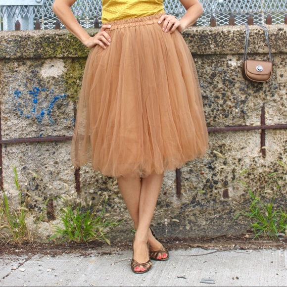 9ee1859a7a C'est Ca New York Skirts | Claire Bronze Midi Soft Tulle Skirt Tutu ...