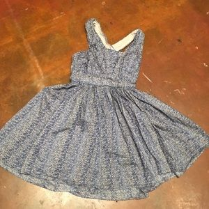 Calypso St. Barth Dresses & Skirts - Calypso Blue Floral Sun Dress XS 50s style