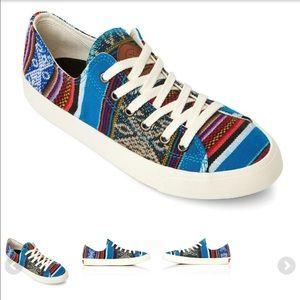 Grunge inkkas blue bird  sneakers ( unisex).