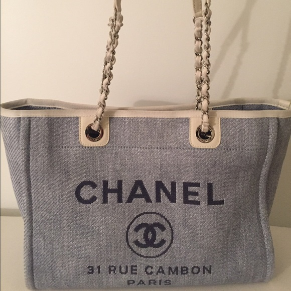 8086117b38ec CHANEL Bags | Sold Denim Tote Bag Light Blue | Poshmark