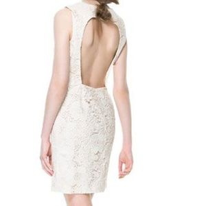 Zara Dresses & Skirts - Zara Floral Lace Open Back Dress