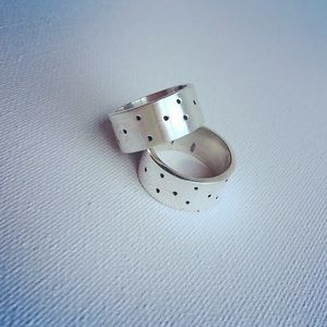 Tiny Dots Thick Gage Sterling Silver Ring
