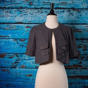 Elevenses Gray Cropped Wool Jacket