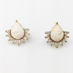 Adia Kibur Jewelry - Stone & Crystal Stud Earrings
