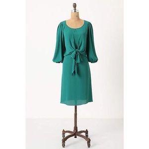 Anthropologie maeve valparaiso emerald green dress