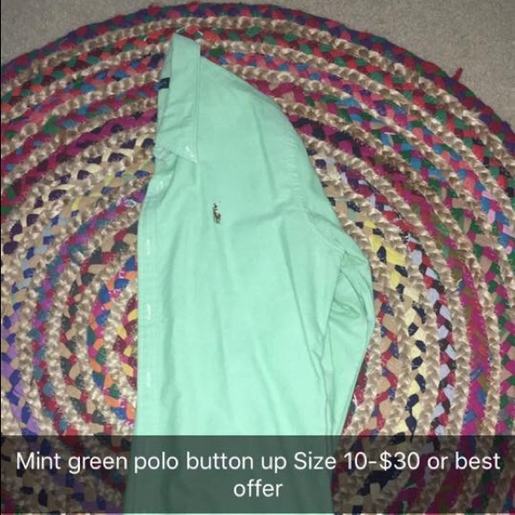 Polo by Ralph Lauren Tops - Mint green polo