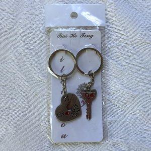 I Love You Matching Keychains