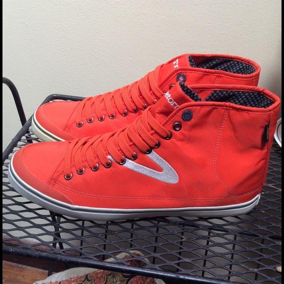 Tretorn Shoes | Red Goretex High Top