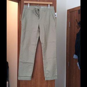 Gap sage green khakis NWT