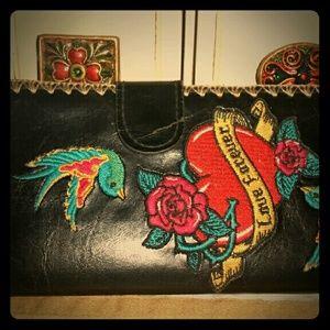 Handbags - Fun embroidered wallet!