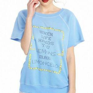 Wildfox NWT limoncello Brit pullover. Sz S
