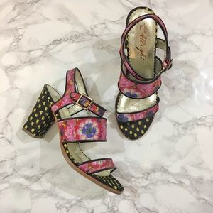 Anthropologie Shoes - Miss Albright Petunia Print Sandals