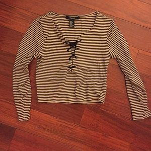 Crop Stripped Shirt
