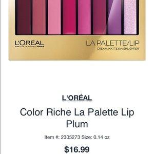 L'Oreal Colour Rich Lip Palette in Plum