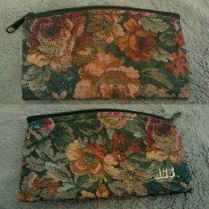 Vintage Rose Floral Makeup Travel Pouch Bag