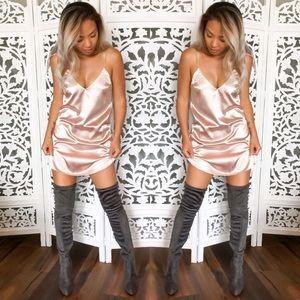 Sale-New OTK Khaleesi Suede Boots- Grey
